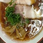 点心飯店 - 純粋醤油ラーメン。以外に、広島では、出会いません。