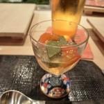 第三春美鮨 - 今日は鮑の勉強会です。クロアワビの肝のゼリーよせから