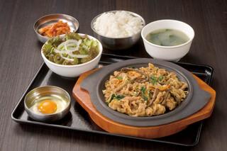 韓国屋台 豚大門市場 - テジプルコギ定食