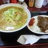 宇月食堂 - 料理写真:味噌ラーメン+ミニカツカレーのセット(¥800)