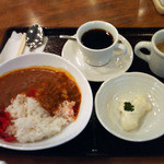驛カフェ with ふくしまカフェ - キーマカレーランチ