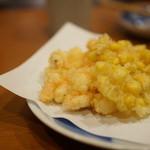 くう - 車海老とトウモロコシのかき揚げ