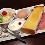 元町珈琲 - プラス120円のモーニング