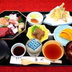 うなぎ割烹 康川 - 刺身定食