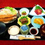 うなぎ割烹 康川 - エビフライ定食