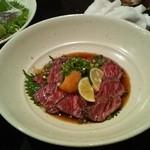 なつ家 - 和牛タタキポン酢(1850円)