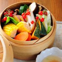 農家名物 セイロ蒸し野菜