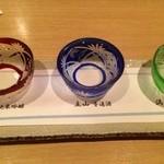 和洋旬菜 新 - 富山の地酒三種呑みくらべセット