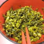 とんとん - 刻み炒めの辛子高菜