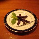 Bar sarto - オレンジピールをチョコレートでつつんだオランジェット