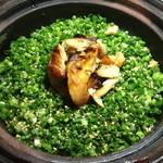 居間 - 鮭ハラスご飯(1合半で1,880円)写真は2合
