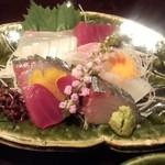 雲海 - 2013.9-2 【秋の味覚会席】 刺身 旬のお魚吹き寄せ盛り
