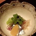 雲海 - 2013.9-7 【秋の味覚会席】 酢物 〆秋刀魚 福久佐胡瓜 酢味噌掛け