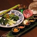 天ぷら 酒菜 醍醐 - 山菜おひたし