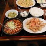 一番餃子 - ランチ(1)(麻婆豆腐、油淋鶏セット)
