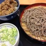 そば処吉野家 - 料理写真:ミニ牛丼、そばセット