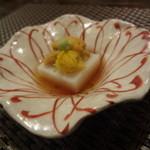 一二三庵 - 長芋のお豆腐 ウニ菊花載せ