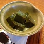 弥五郎 - 抹茶ゼリー  コーヒーとセットで600円