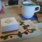 ラバール カフェクレンズ - ケーキセット(レアチーズケーキ)