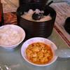 錦城 - 料理写真:セットのご飯と麻婆豆腐