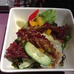 カルボナーラ - 林神龍 カルボナーラ パルコ店 セットのサラダ