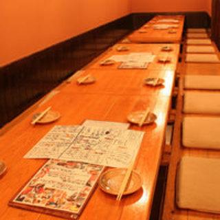 【堀りごたつ席完備】半個室風。最大46名様まで
