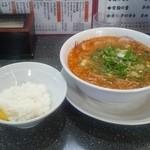 京めん 壱慶 - 胡麻辣麺(750円)+サービスライス