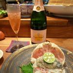 やす田 - ズワイガニとシャンパン