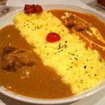 神戸Aarti - ダブルカレーライス(チキン&バターチキン)