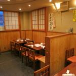 山利喜 - 2階のテーブル席は、まだ空いてます