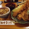 かつ義 - 料理写真:「ひれかつ2枚&海老フライ2匹定食」1,480円