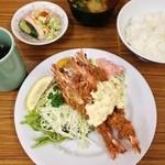 とんかつ八千代 - 車海老フライ定食