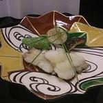 北新地 湯木 - 太刀魚の揚げ物
