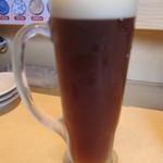回転寿司函館まるかつ水産 - 地ビールはこだてビール(北の一歩[エール]):480円