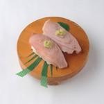 でかねた寿司 - 脳天 本まぐろの脳天、とろの食感!