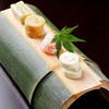 野むら - 料理写真:前菜(鬼灯さーもんちぃず、茄子利休寄せ、枝豆ちぃず、出汁巻き玉子)