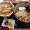 生そば 一力 - 料理写真:冷やしたぬきそばとカツ丼のセット@700円