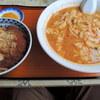 味の三平 - 料理写真:ミニ激辛味噌+ミニカツ丼セット 850円 2013.9