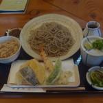 はぎ乃 - 天ぷら定食大盛り 1207円