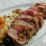 フランケンシュタイン - 『国宝豚マンガリッツァのステーキ あさりとオリーブのソース』