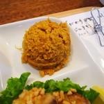 くるう食堂 - サワラのピーナツ揚げおかず大盛り(13年9月ランチ)