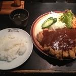 レストランくろんぼ - ビーフカツランチ