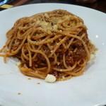 レストラン AKIOKA  - パスタセット  ミートソース  \1050  +大盛\150