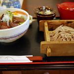 いろりなかがわ亭 - かのこ丼そばセット(赤そばチェンジ)~☆