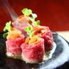 和彩旬香 もぐら - 料理写真:もぐら名物「あか牛のウニ巻き焼」