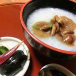 和楽 - <9月夜>食事、ナメコがゆ