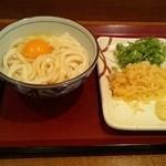 楽釜製麺所 - 釜玉うどん(並)(340円)