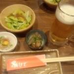 鳥ひで - 料理写真:ビールとお通し
