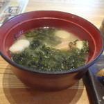 すし屋 銀蔵 - ランチサービスのアラ汁