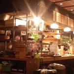平太 - 片側のカウンター席の中が厨房です。オープン式